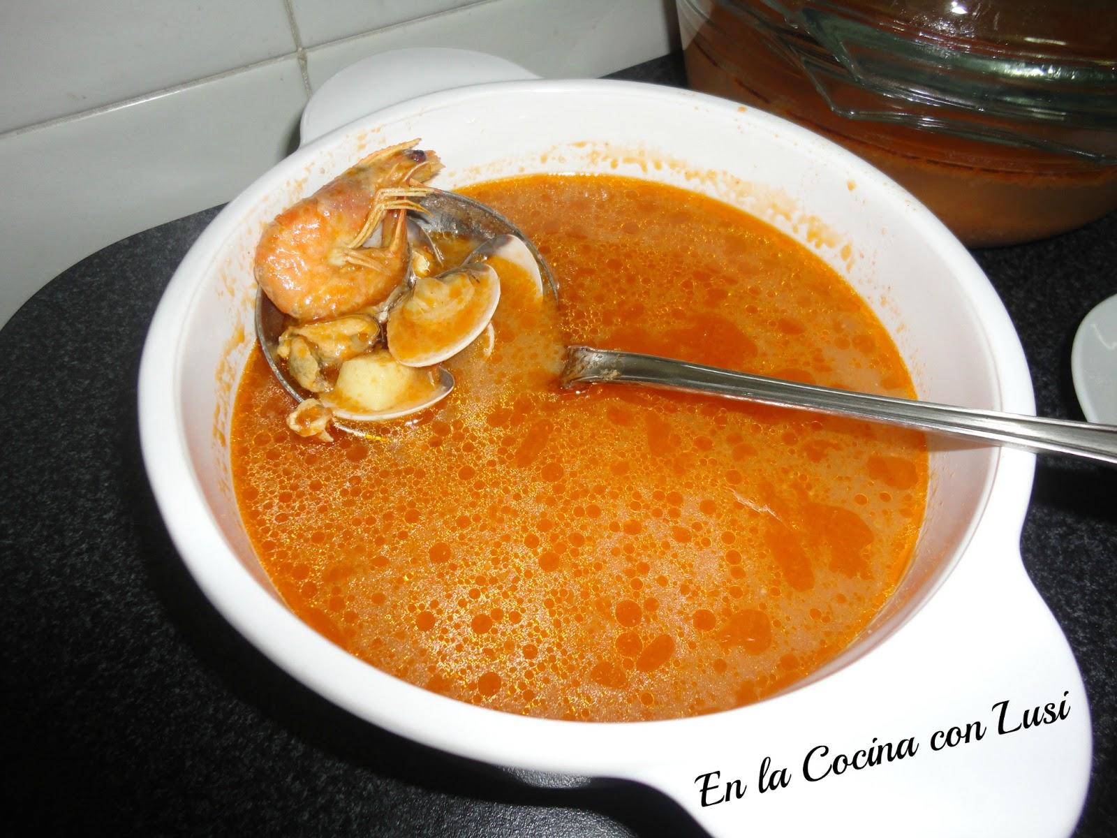 En la cocina con lusi sopa de pescado y mariscos - Sopa de marisco y pescado ...