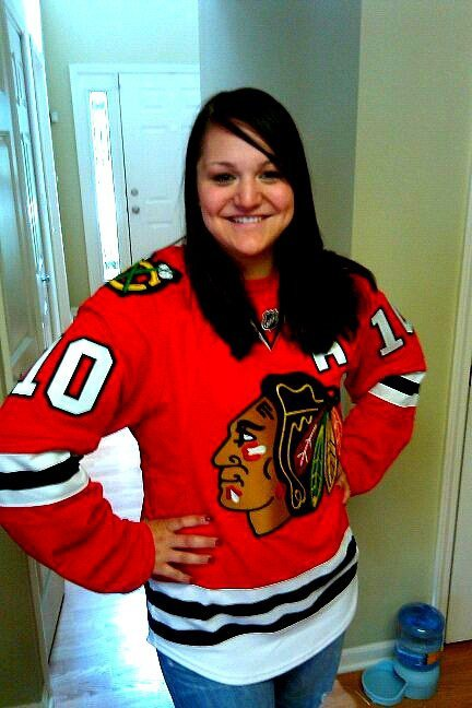 Girls in hockey jerseys remarkable, rather