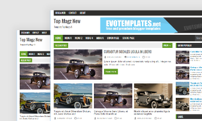 Topmagz Blogger Template