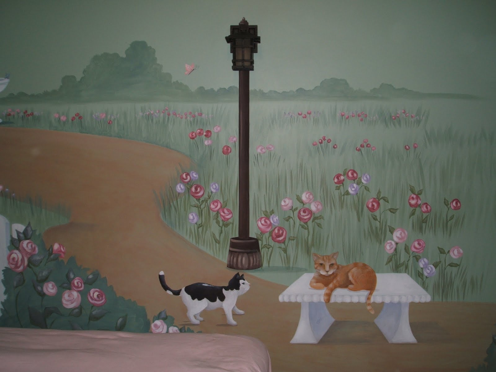 the dream painter wall murals hand painted wall murals. Black Bedroom Furniture Sets. Home Design Ideas