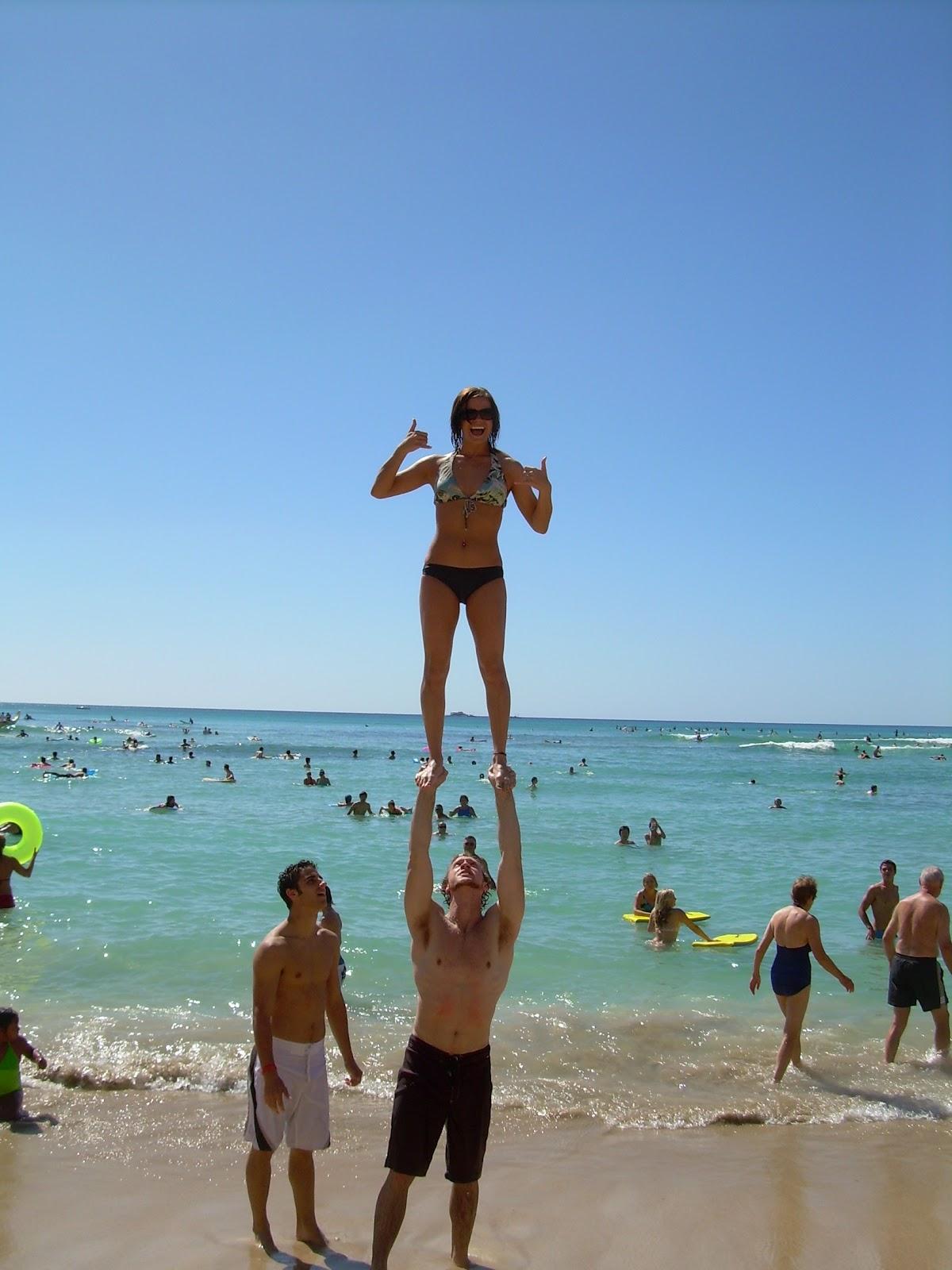 Beach Partner Stunt