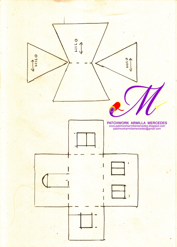 Patchwork armilla mercedes s l patrones gratis - Patrones de casas de patchwork gratis ...