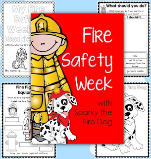 sparky the fire dog craft. fire safety week with sparky the dog - worksheets for grades 1-2 craft