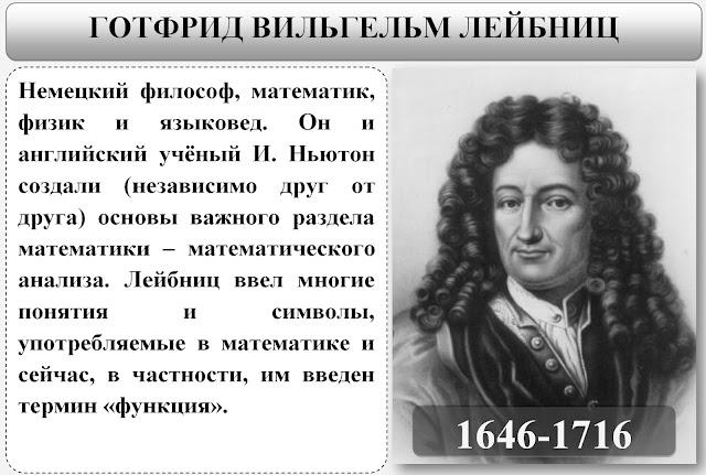 Великие Математики:  Готфрид Вильгельм Лейбниц