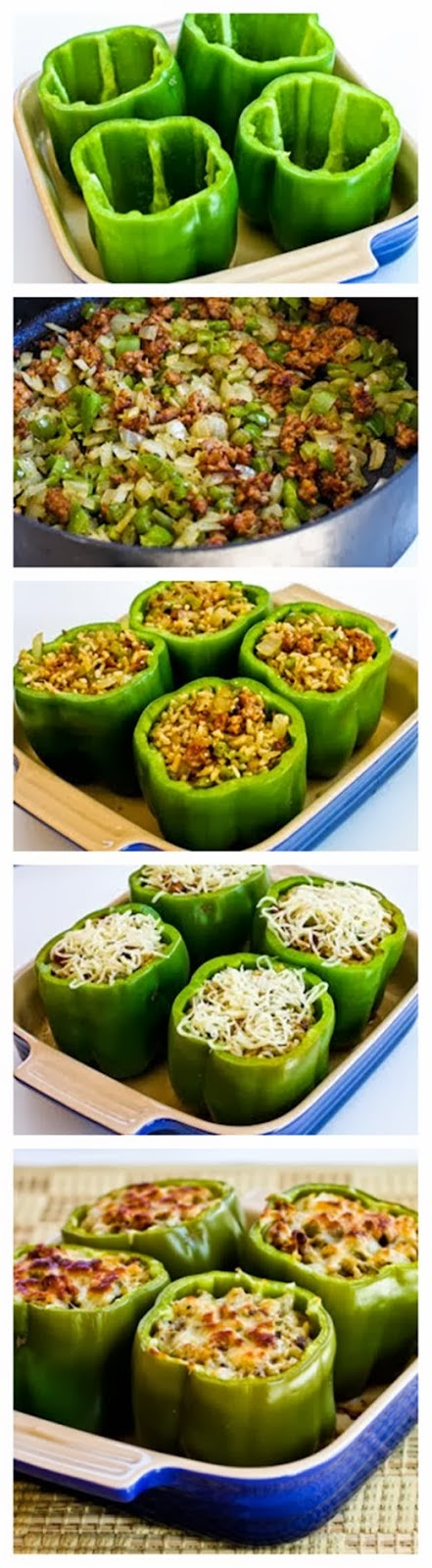 Brown Rice Casserole With Turkey Italian Sausage And Green Bell Pepper ...