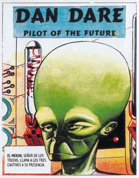 Dan Dare Piloto del Futuro de Frank Hampson, edita 001 ediciones, comic ciencia ficción aliens