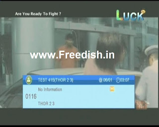 Luck TV and Movie House Channel FTA from Insat 4B Satellite