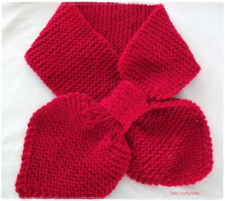Free Knitting Pattern For Bow Knot Scarf : .Lindas Crafty Corner: My Projects and Ideas