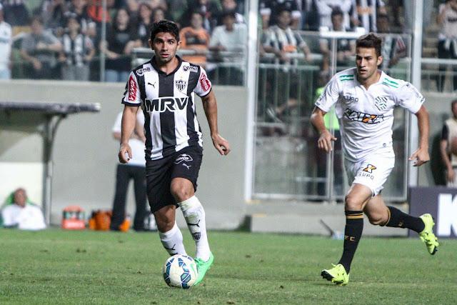Guilherme entrou no segundo tempo da partida entre Atlético e Figueirense (Foto: Bruno Cantini/Atlético MG)