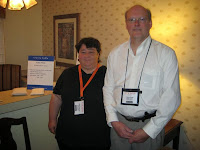 Photo of Chris Owen and Melissa Owen from Clarity Cable at the Consumer Electronics Show
