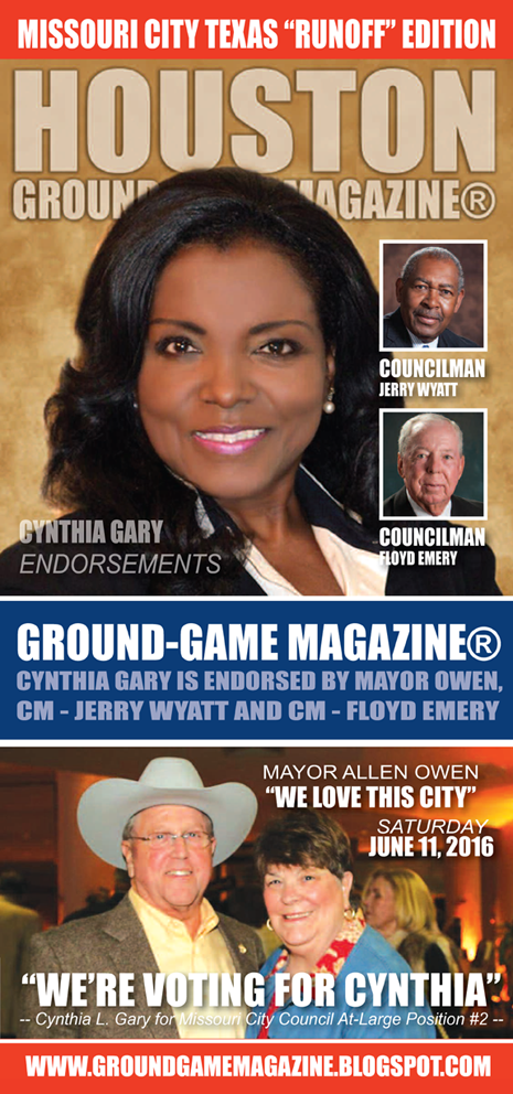 CYNTHIA GARY IS THE RIGHT CHOICE FOR MISSOURI CITY COUNCIL AT LARGE POSITION #2 ON JUNE 11, 2016