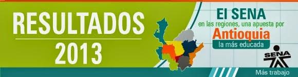 Resultados Regional Antioquia 2013