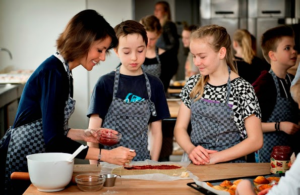 Princess Marie Visits The Zahle School In Copenhagen
