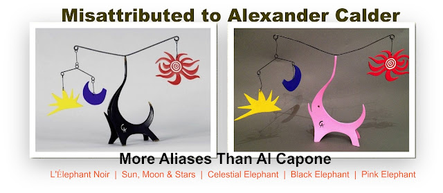 2 Sculptures Misattributed to Alexander Calder sold over 75 times at auction