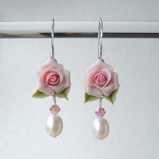 rose earrings 003 - For cute pari