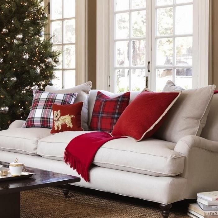 dekoratif ekose yastık