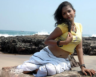 Roja Devi Spicy Item Girl Tamil Actress beach Side Pictures
