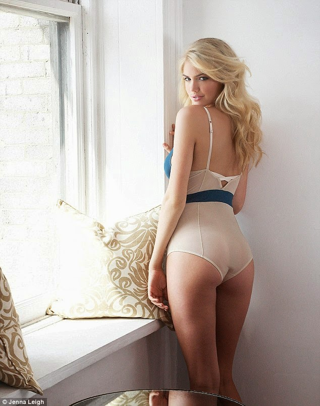 Kate Upton models high-end lingerie for the Jenna Leigh 2014 Lookbook