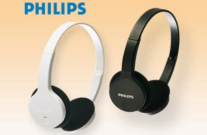 Słuchawki stereo Bluetooth Philips SHB4000 z Biedronki 2014