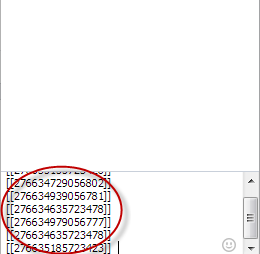 kode tulisan berwarna fb