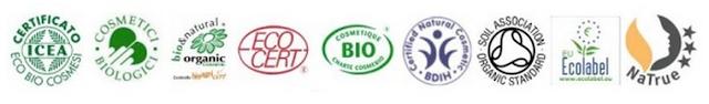 Certificazioni Icea, Organic, Bio, Ecolabel, Natrue, EcoCert