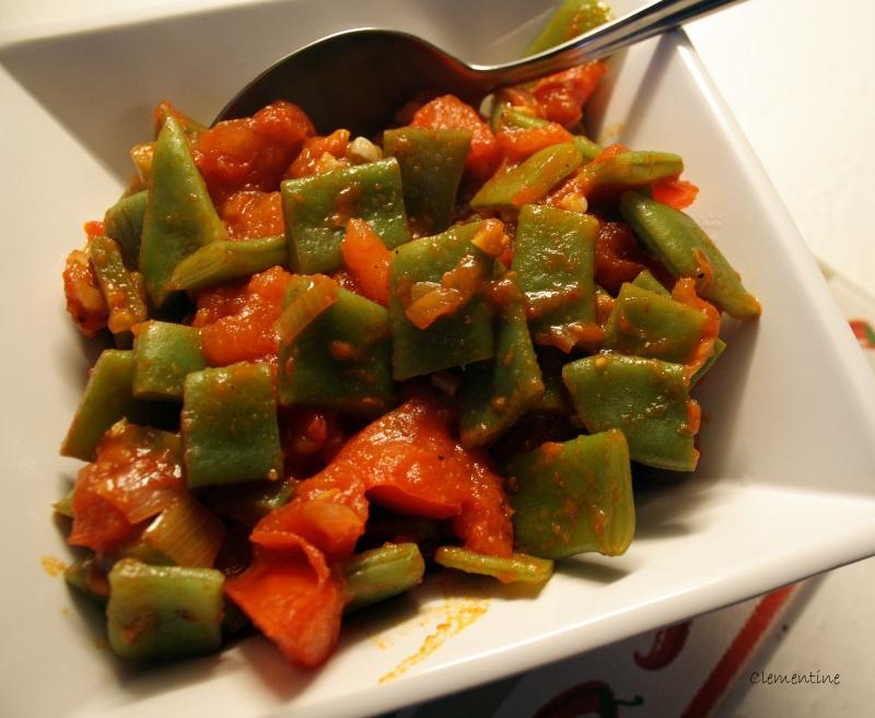 Le blog de clementine haricots plats aux tomates - Cuisiner les haricots plats ...