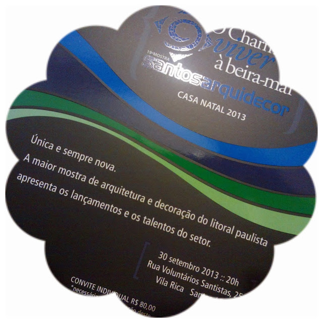 convite para a Mostra Santos Arquidecor 2013