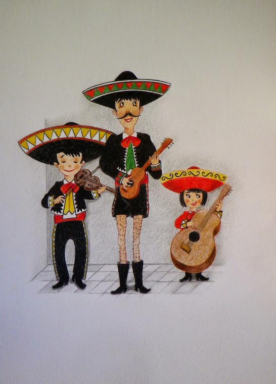 Los mariachis.