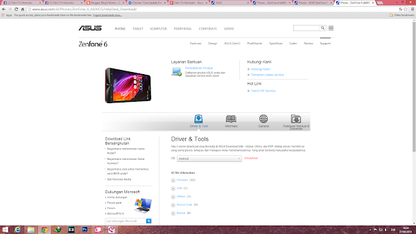 update firmware Zenfone 5 manual