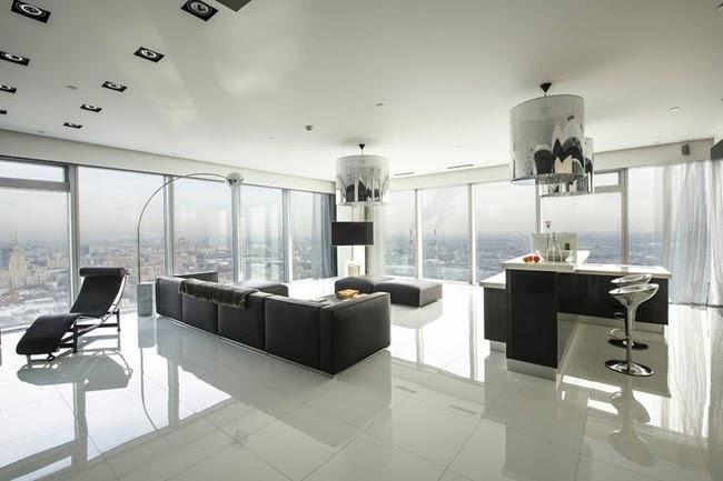 Casas minimalistas y modernas apartamento minimalista con for Apartamentos minimalistas