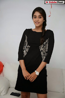 Actress Regina Candra Latest  Pictures in Black Short Dress  0017
