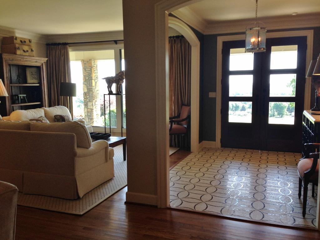 Rattlebridge farm ranch renovation diary 4 for Living room design 70s