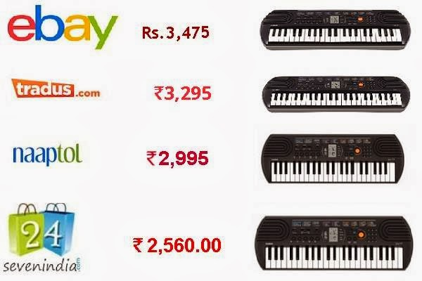 price comparison of Casio sa77 between different online shopping sites