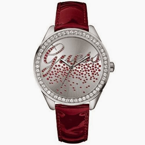 New Guess Ladies New Guess Party Girl White Dial Leather Strap Watch