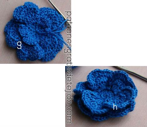 flor volumétrica crochet
