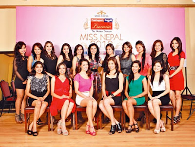 Miss Nepal Participants Group Photo
