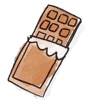 板チョコのイラスト(バレンタイン)