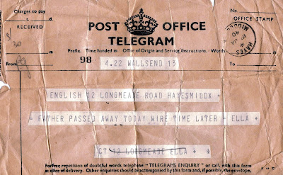 Telegram from 1940