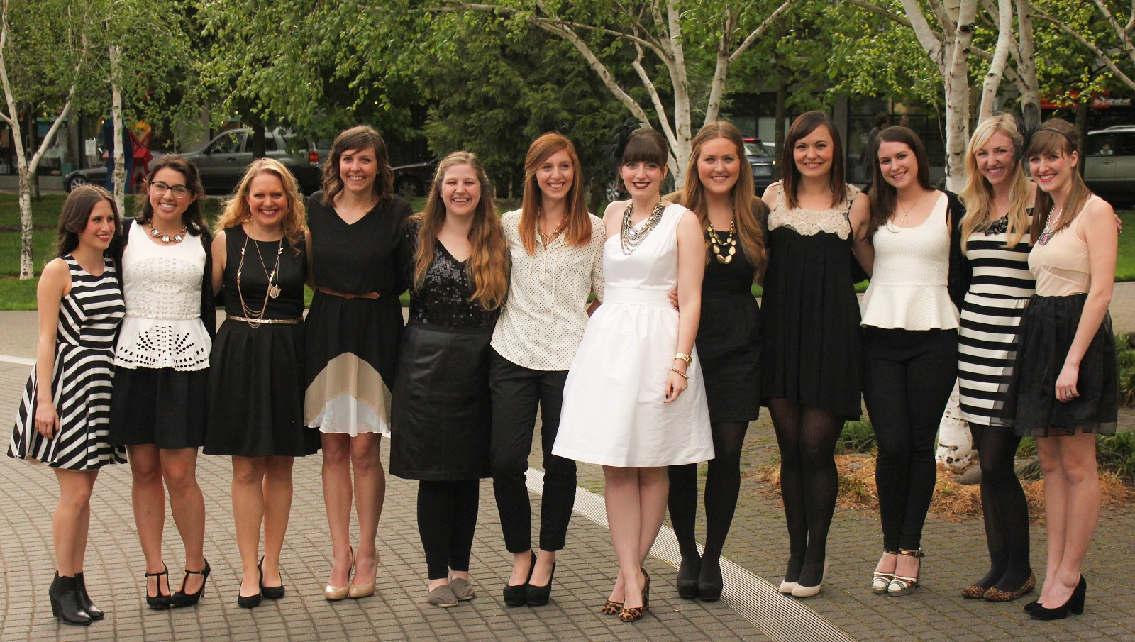black and white and gold bridal shower part 3