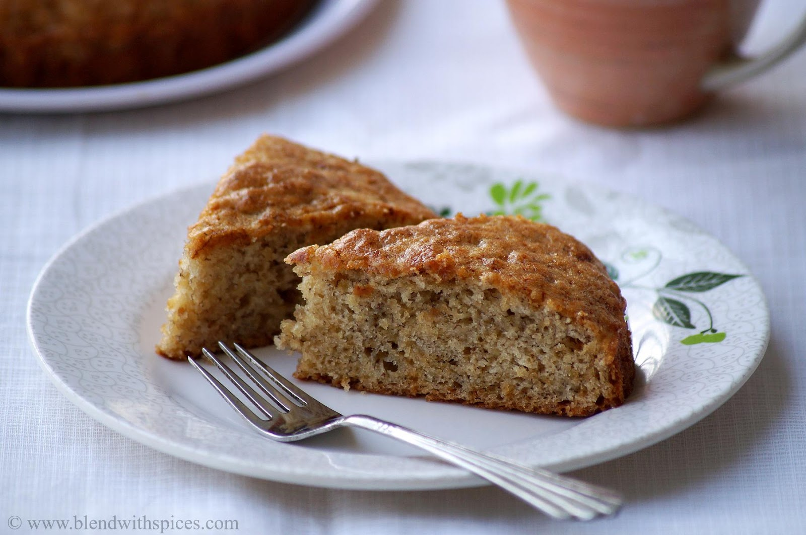 Eggless Banana Cake Recipe - Vegan Banana Cake Recipe - Step by Step ...