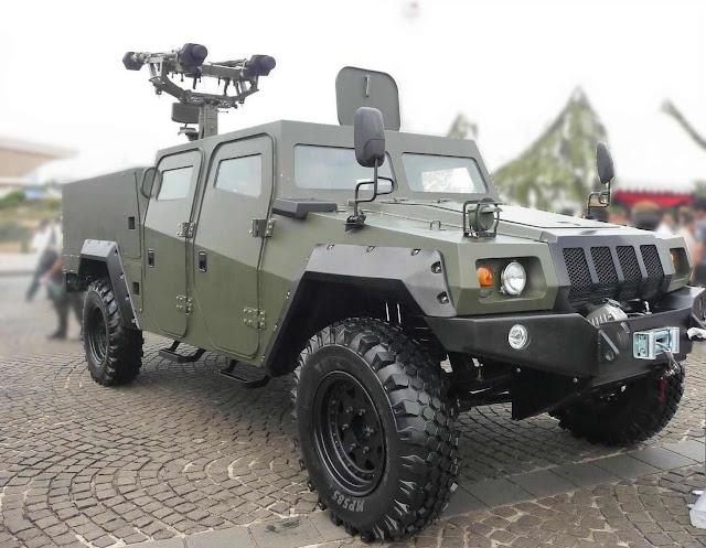 Kendaraan Tempur 4x4 Komodo dengan Rudal Mistral