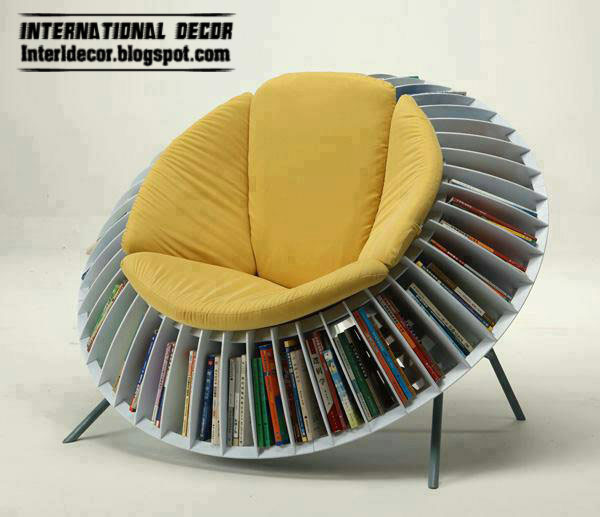 Contemporary chairs bookcase furniture
