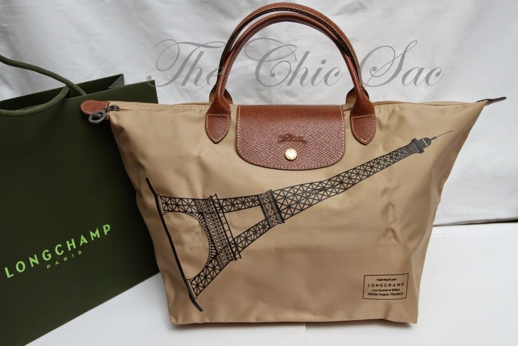 Longchamp Eiffel Laukku : The chic sac limited edition longchamp eiffel tower le pliage