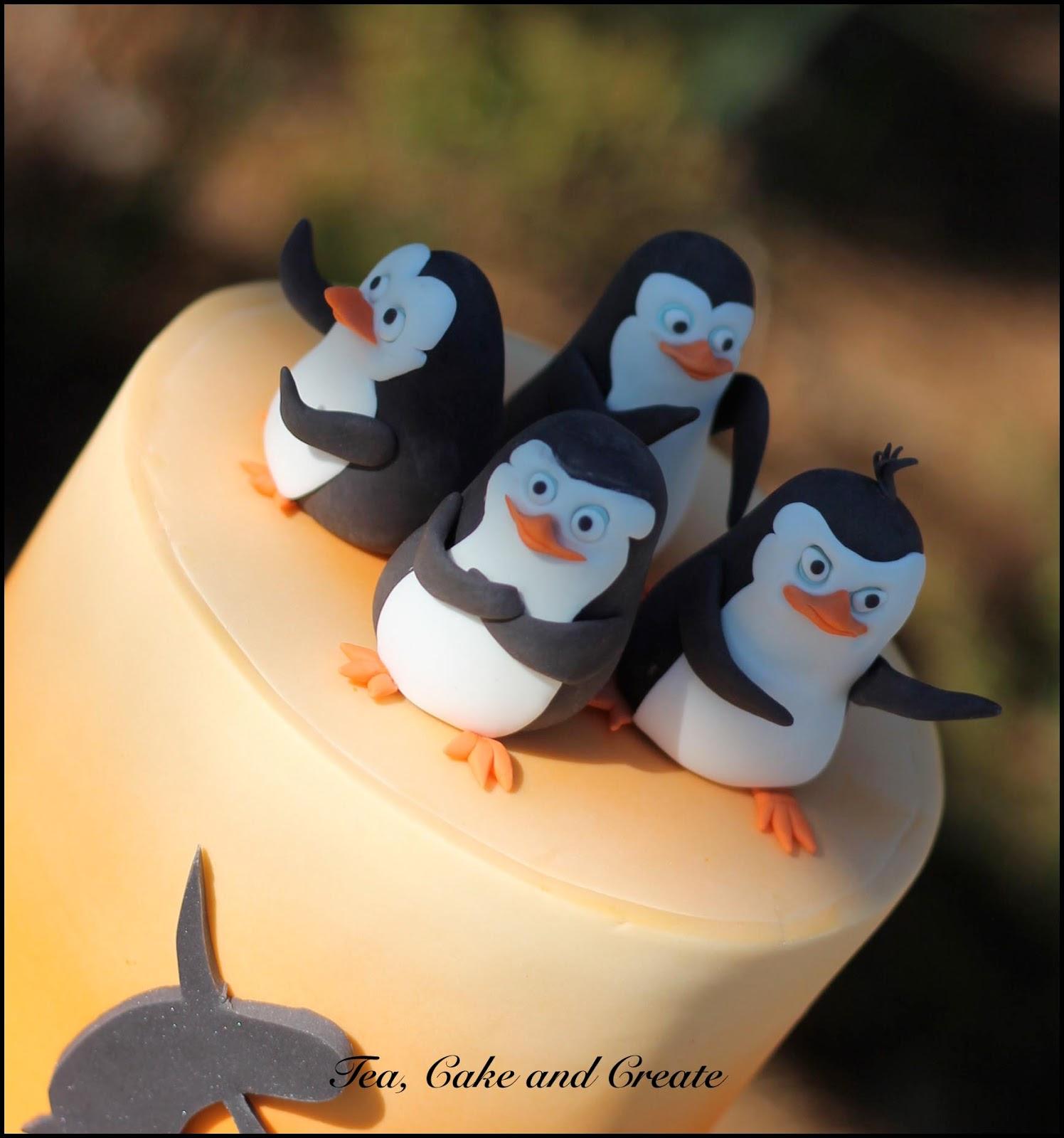 Tea Cake Create Penguins Of Madagascar Birthday Cake