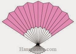 Bước 12: Hoàn thành cách xếp cái quạt nhật bản bằng giấy theo phong cách origami.