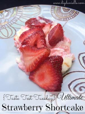 The Ultimate Strawberry Shortcake: Using white chocolate pudding!