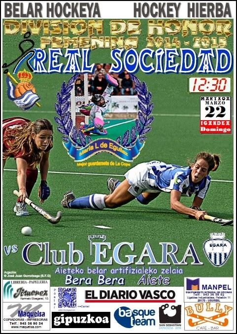 Cartel hockey 2015-03-22 Real Sociedad - Club EGARA