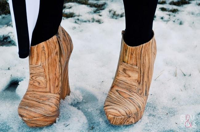 Sheik Shoes Woodgrain Ankle Boots