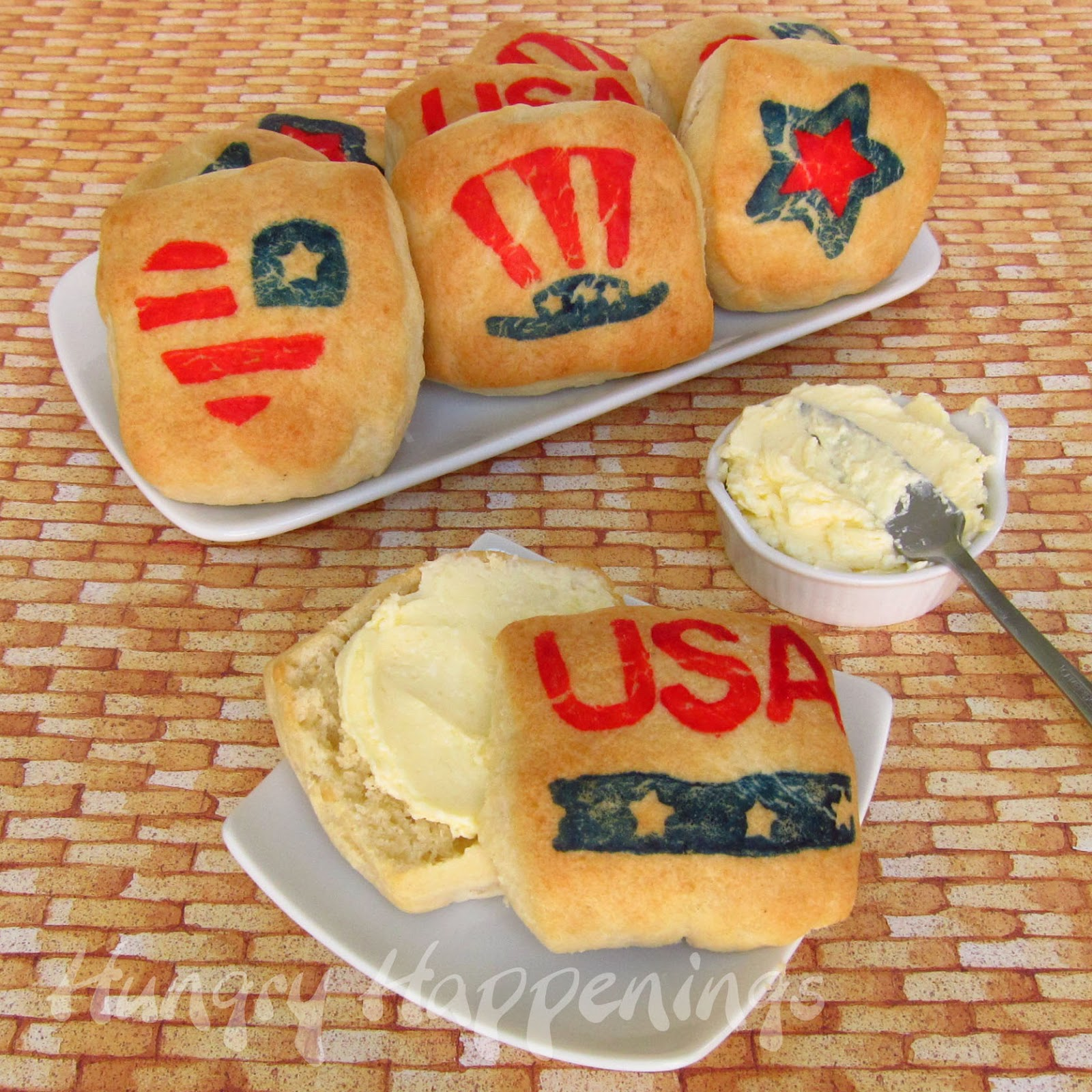 Virtual memorial day potluck with celebrations patriotic biscuits