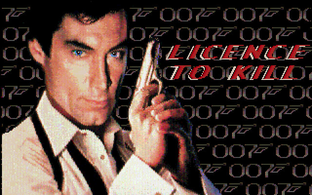 Licence to Kill Amiga title screen